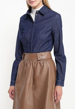 Рубашка Джинсовая Trussardi Jeans                                                                                                              синий цвет