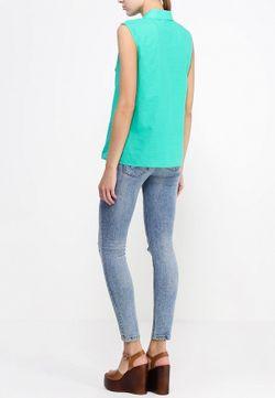 Блуза UNQ                                                                                                              зелёный цвет