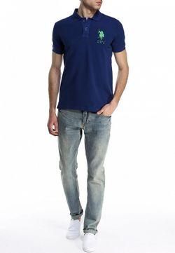 Поло U.S. Polo Assn.                                                                                                              синий цвет