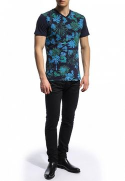 Футболка Versace Jeans                                                                                                              синий цвет