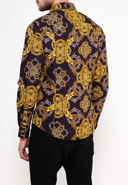 Рубашка Versace Jeans                                                                                                              желтый цвет