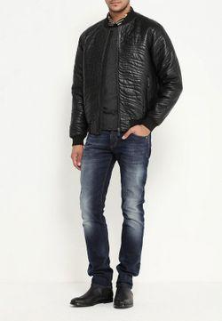Куртка Кожаная Versace Jeans                                                                                                              черный цвет