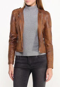 Куртка Кожаная Vero Moda                                                                                                              коричневый цвет