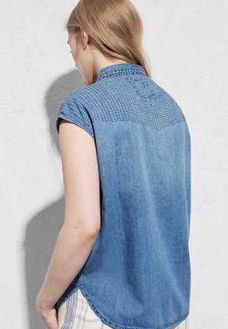 Блуза Violeta by Mango                                                                                                              голубой цвет