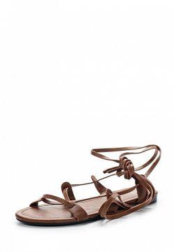 Сандалии Zalora                                                                                                              коричневый цвет