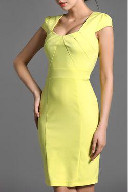 Платье Baoyan                                                                                                              желтый цвет