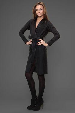 Платье С Поясом Saint Laurent                                                                                                              черный цвет