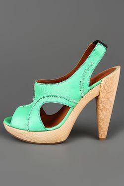 Босоножки Lanvin                                                                                                              зелёный цвет