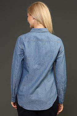 Рубашка Theory                                                                                                              голубой цвет