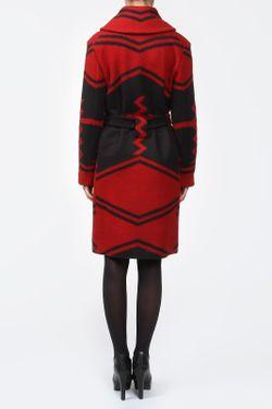 Пальто С Поясом Ralph Lauren Collection                                                                                                              красный цвет