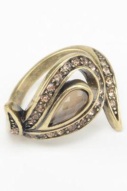 Кольцо Slava Zaitsev                                                                                                              коричневый цвет