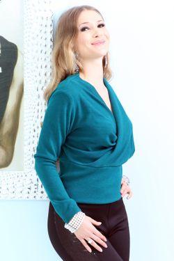 Блуза Lussotico                                                                                                              голубой цвет