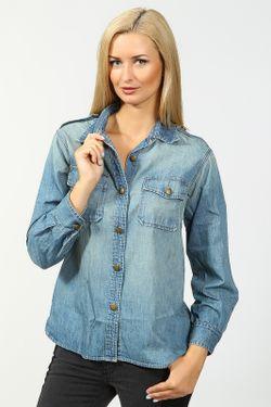 Рубашка Джинсовая Current/Elliott                                                                                                              голубой цвет