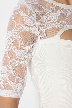 Платье С Кружевом Tutto Bene                                                                                                              белый цвет