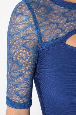 Платье С Кружевом Tutto Bene                                                                                                              синий цвет