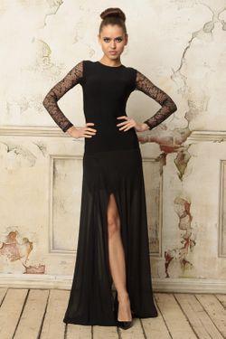 Платье С Кружевом Tutto Bene                                                                                                              черный цвет