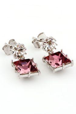 Серьги Inesse M                                                                                                              розовый цвет