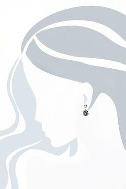 Серьги Inesse M                                                                                                              серый цвет