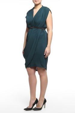 Платье С Поясом Lanvin                                                                                                              синий цвет