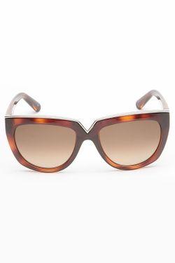 Очки Солнцезащитные Valentino                                                                                                              коричневый цвет