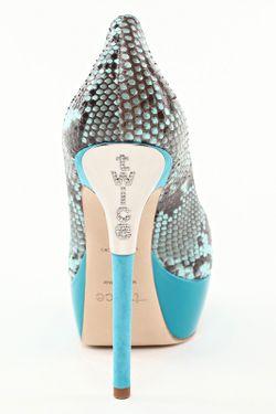 Туфли Twice                                                                                                              голубой цвет