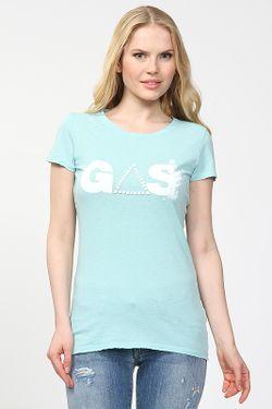 Футболка Gas                                                                                                              голубой цвет