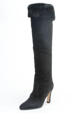 Сапоги Manolo Blahnik                                                                                                              чёрный цвет