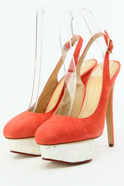 Туфли Charlotte Olympia                                                                                                              красный цвет