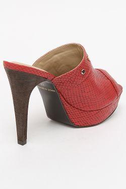 Туфли Летние Открытые Tervolina                                                                                                              красный цвет