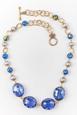 Колье Biruza                                                                                                              синий цвет