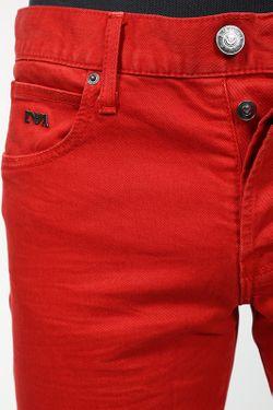 Джинсы Emporio Armani                                                                                                              красный цвет