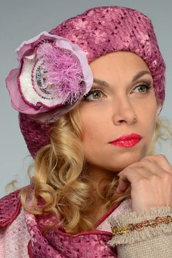 Берет Lak Miss                                                                                                              розовый цвет