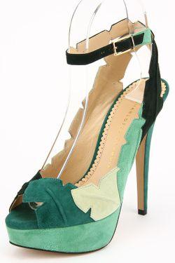 Босоножки Charlotte Olympia                                                                                                              зелёный цвет