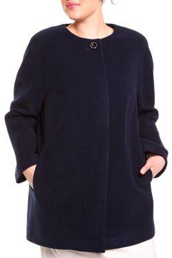 Пальто Queen-Size                                                                                                              синий цвет