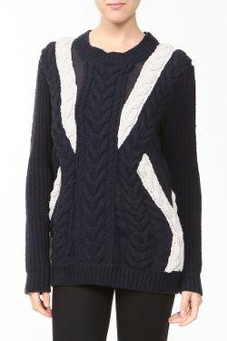 Пуловер Вязаный 3.1 Phillip Lim                                                                                                              синий цвет