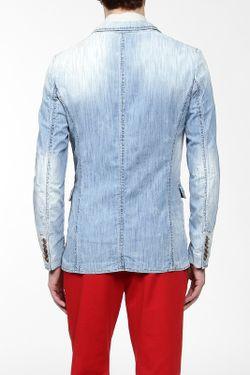 Пиджак Джинсовый Dsquared2                                                                                                              синий цвет