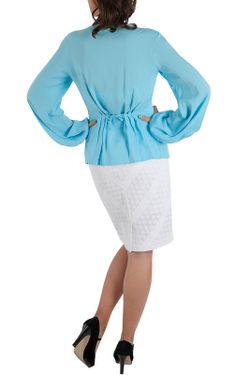 Блуза Ksenia Knyazeva                                                                                                              голубой цвет