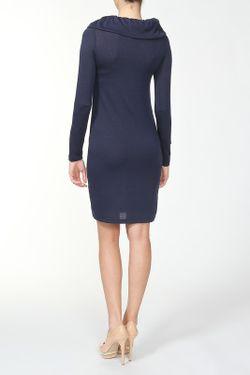 Платье Трикотажное С Воротом DuckyStyle                                                                                                              синий цвет
