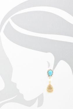 Серьги CHANTAL                                                                                                              голубой цвет