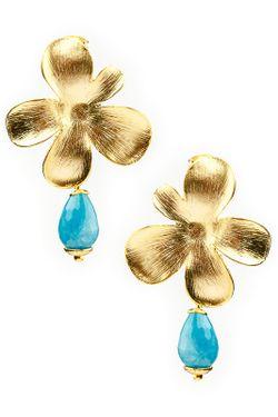 Серьги Patricia Bruni                                                                                                              голубой цвет