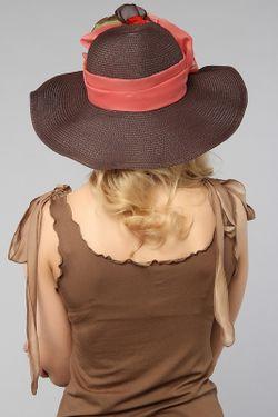 Шляпа Lak Miss                                                                                                              коричневый цвет