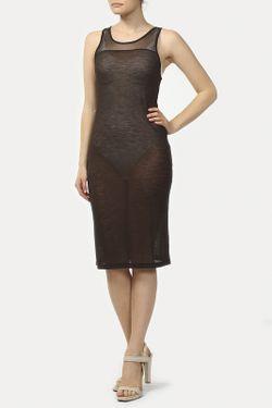 Платье Джерси Vpl                                                                                                              коричневый цвет