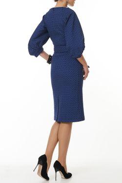 Платье С Японским Поясом Argent                                                                                                              синий цвет