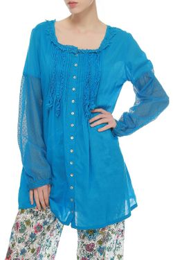Блуза Rosapois                                                                                                              синий цвет