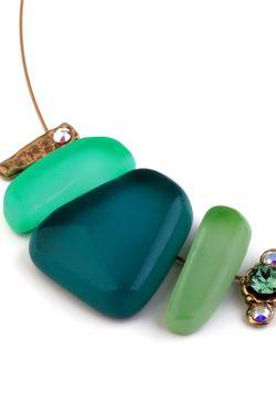 Колье Nathalie Borderie                                                                                                              зелёный цвет