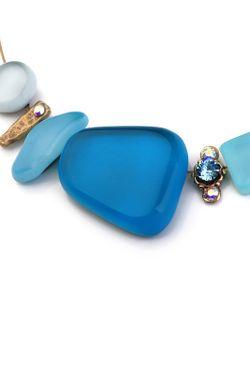 Колье Nathalie Borderie                                                                                                              голубой цвет
