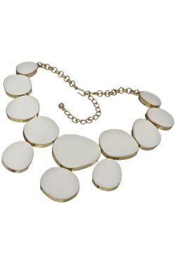 Ожерелье Белый Глянец Kenneth Jay Lane                                                                                                              многоцветный цвет