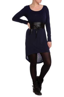 Платье С Поясом Majaly                                                                                                              синий цвет