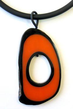 Колье Zero Divetro                                                                                                              оранжевый цвет
