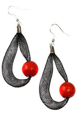 Серьги Rina Divetro                                                                                                              красный цвет